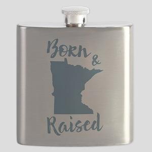 Minnesota - Born & Raised Flask