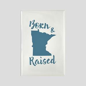 Minnesota - Born & Raised Rectangle Magnet