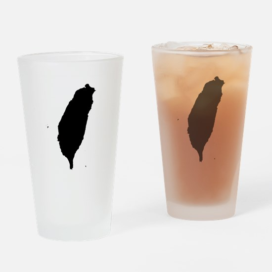 Taiwan Silhouette Map Drinking Glass
