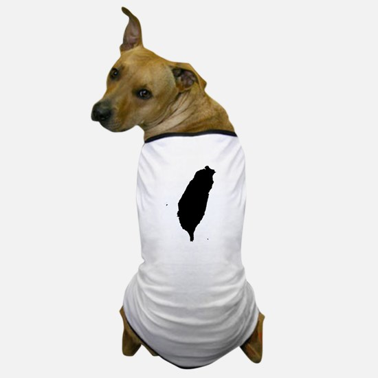 Taiwan Silhouette Map Dog T-Shirt
