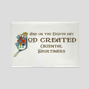 God Created Shorthairs Rectangle Magnet