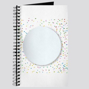 Round Copy Space Confetti Party Background Journal