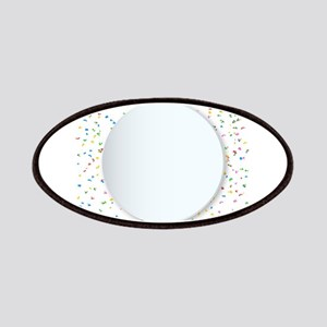 Round Copy Space Confetti Party Background Patch