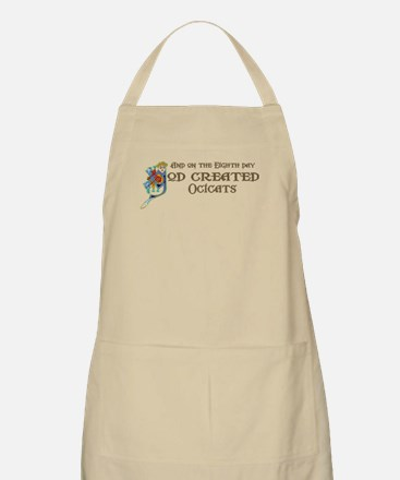 God Created Ocicats BBQ Apron
