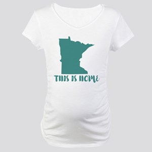 Minnesota - This Is Home Maternity T-Shirt