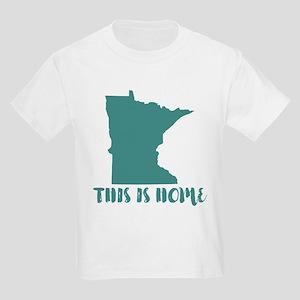 Minnesota - This Is Home Kids Light T-Shirt