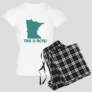 Minnesota - This Is Home Women's Light Pajamas