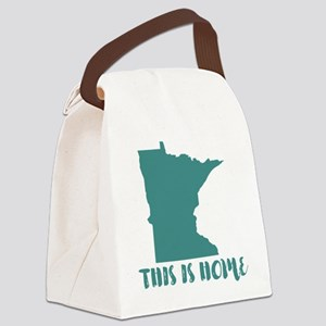 Minnesota - This Is Home Canvas Lunch Bag