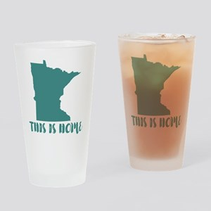 Minnesota - This Is Home Drinking Glass