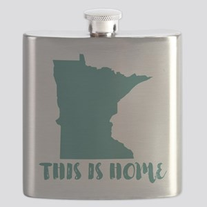 Minnesota - This Is Home Flask
