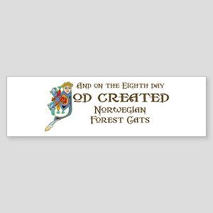 God Created Wegies Bumper Sticker