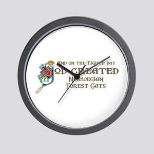 God Created Wegies Wall Clock