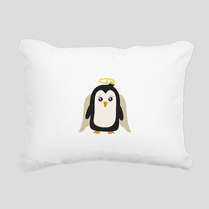 Penguin Angel Rectangular Canvas Pillow