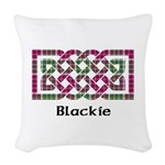 Knot - Blackie Woven Throw Pillow