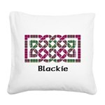 Knot - Blackie Square Canvas Pillow