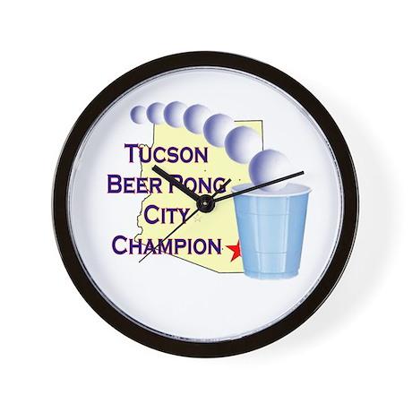 Tucson Beer Pong City Champio Wall Clock