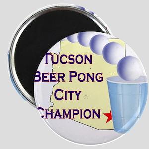 Tucson Beer Pong City Champio Magnet