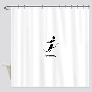 Team Waterski Monogram Shower Curtain