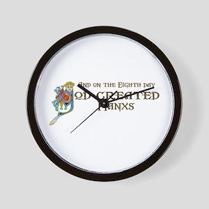 God Created Manxs Wall Clock