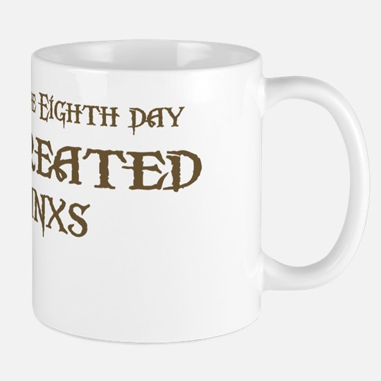 God Created Manxs Mug