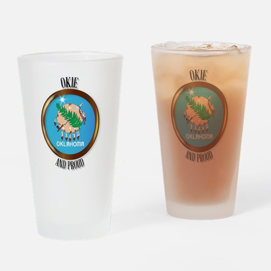 Unique Okie Drinking Glass