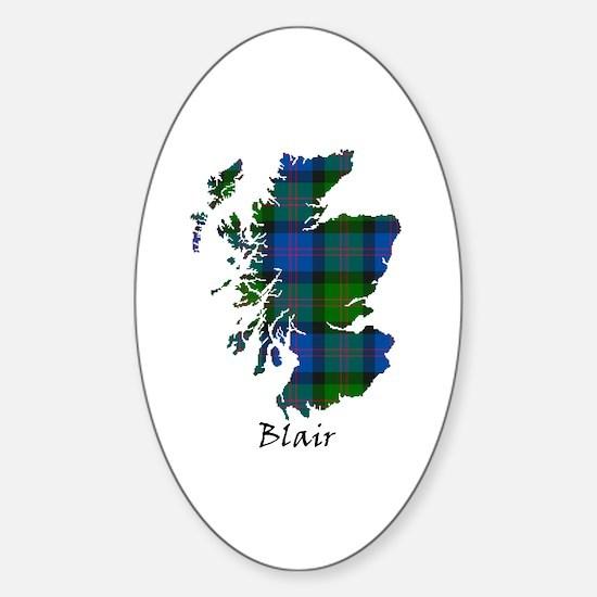 Map - Blair Sticker (Oval)