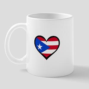 Puerto Rico Love Heart Mug