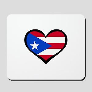 Puerto Rico Love Heart Mousepad