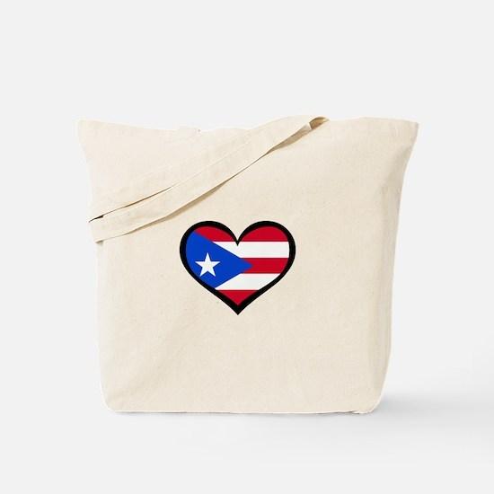 Puerto Rico Love Heart Tote Bag