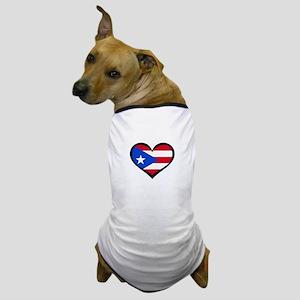 Puerto Rico Love Heart Dog T-Shirt