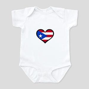 Puerto Rico Love Heart Infant Bodysuit