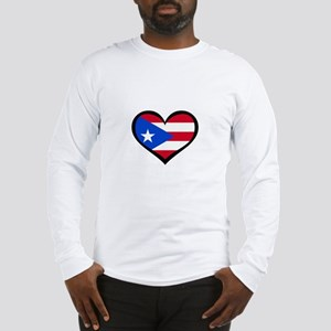 Puerto Rico Love Heart Long Sleeve T-Shirt
