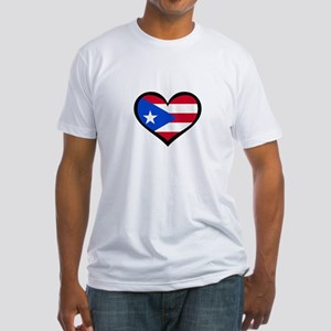Puerto Rico Love Heart Fitted T-Shirt