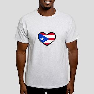 Puerto Rico Love Heart Light T-Shirt