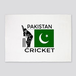 Pakistan Cricket 5'x7'Area Rug