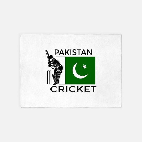 Pakistan Cricket 5'x7'Area Rug