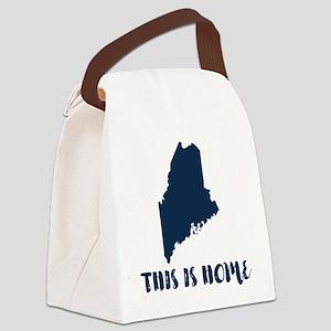 Maine - Born & Raised Canvas Lunch Bag