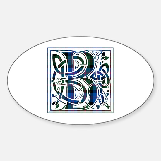 Monogram - Blair Sticker (Oval)