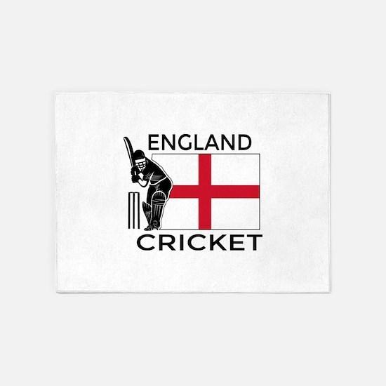 England Cricket 5'x7'Area Rug