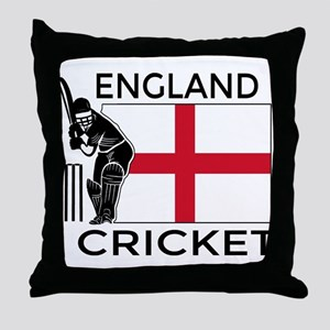 England Cricket Throw Pillow