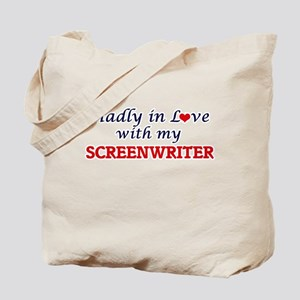 Madly in love with my Screenwriter Tote Bag