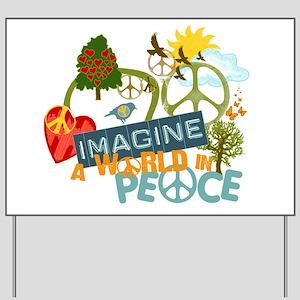 Imagine Peace Abtract Art Yard Sign