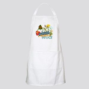 Imagine Peace Abtract Art BBQ Apron