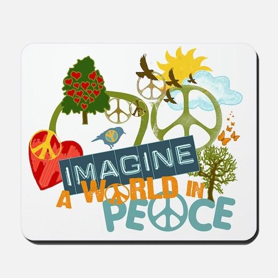 Imagine Peace Abtract Art Mousepad