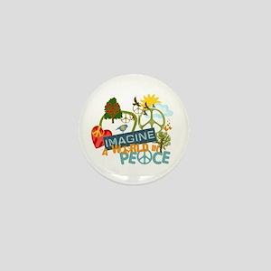 Imagine Peace Abtract Art Mini Button