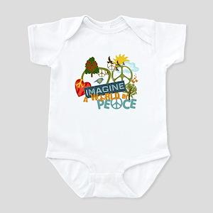 Imagine Peace Abtract Art Infant Bodysuit