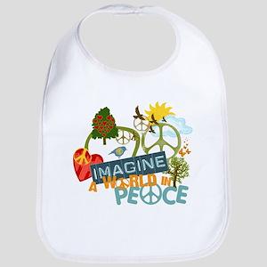 Imagine Peace Abtract Art Bib