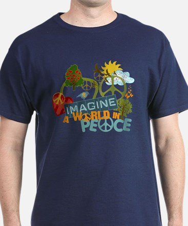 Imagine Peace Abtract Art T-Shirt