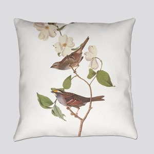 Audubon White Throated Sparrow on Everyday Pillow
