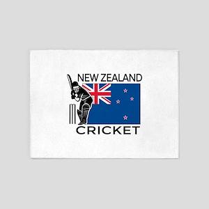 New Zealand Cricket 5'x7'Area Rug